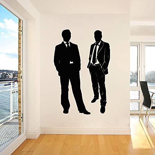 Calcomanías de pared para hombres trabajo en equipo y calcomanía de equipo trabajo Interior Art Deco papel tapiz de vinilo extraíble póster A2 40x60cm