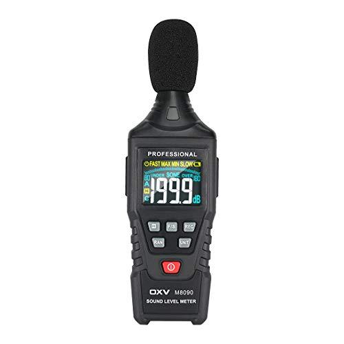 Decibel Meter/Professional Sound Pressure Level SPL Reader, Handheld Digital Measure Gauge, Measurement Range 30-130 dB(A), Accuracy 1.5dB, MAX/MIN and Data Hold Function