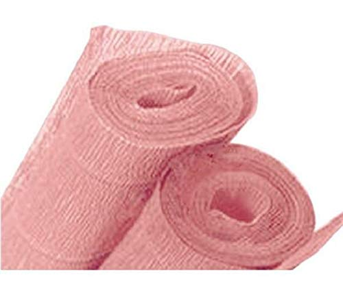 Juego de tres rollos de papel crepé rosa salmón 40 g