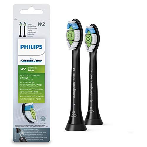 Philips Sonicare óptima blanco Diamondclean brushsync cabezales repuesto negro x2