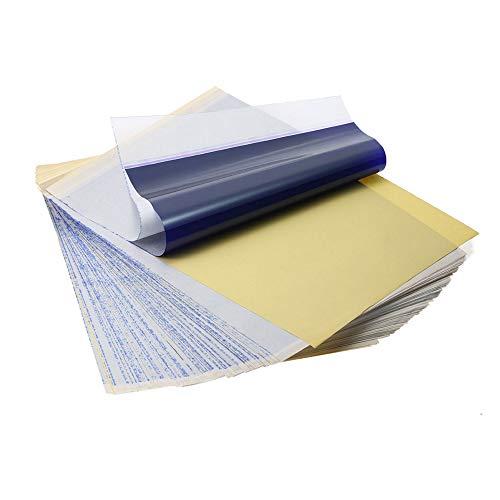Mintice 30 Blatt Tattoo Carbon Transferpapier Pauspapier Kopierer Thermal Kohlepapier Matritzenpapier Schablone Körper Kopieren Verfolgung zu Haut A4 Papier 4 Schichten Kunst Größe