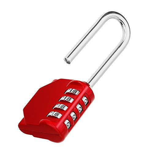 ZHEGE 2.2 Inch Long Shackle Combination Lock, 4 Digit Resettable Weatherproof Padlock for School, Gym & Employee Locker, Outdoor, Fence