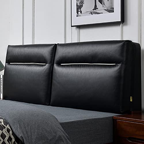 RXBD Cabecero Amortiguar,Lumbar Cama Cabecera Cojín De Cuña Tapizada Cojín De Respaldo De Apoyo,Cama Extraíble Y Funda para Litera (Tamaño Personalizable) (Color : Black, Size : 120 * 60cm)