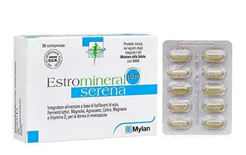 Estromineral Serena Plus, Integratore Alimentare a Base di Isoflavoni di Soia, 30 Compresse thumbnail