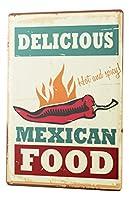ブリキの看板金属板装飾看板家の装飾プラークフードレストランメキシコ料理