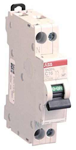ABB 470088 Interruptor automático modular de fase más neutro de 16 A