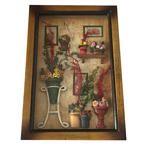 Estilo pastoral Artesanía de madera Caja de llaves Mural creativo Decoración de pared 8 colores - D