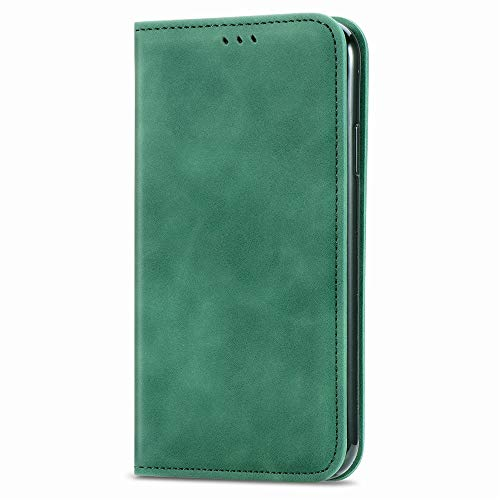 KAIDON Hülle Kompatibel Mit Samsung Galaxy A42 5G, [Model:C1-018] Weiche TPU Innenschale PU Leder Flip Wallet Schutzhülle Klapphüllen (Grün)