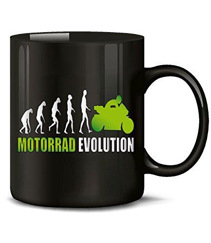 Golebros Motorrad Evolution Chopper Tasse Becher Kaffeetasse Kaffeebecher mit Spruch Artikel Geburtstag Geschenkartikel Geschenke für männer Motorradfahrer