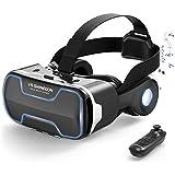 Dasimon【VRゴーグル】 VRヘッドセット VRグラス 3D スマホVR 高音質ヘッドホン付 VRメガネ120°視野角 VRヘッドマウントディスプレイ 4.7~6.5インチスマホ対応 本体操作可 Bluetoothコントローラー付 ワンクリック受話 600度近視/遠視適用 目幅/ピント調節可 非球面光学レンズ 着け心地よい iPhone& Androidなどスマホ対応 放熱性良い 日本語説明書付 Bluetoothコントローラー付 ワンクリック受話 600度近視/遠視適用 目幅/ピント調節可 非球面光学レンズ 着け心地よい iPhone& Androidなどスマホ対応 放熱性良い 日本語説明書付(黒)