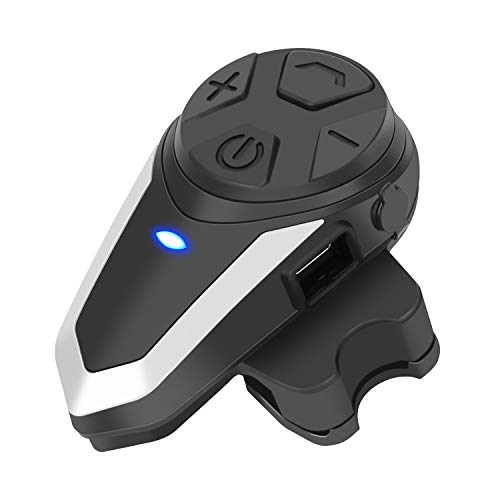 BT-S3 Interfono Moto Singolo 1000M Auricolari Bluetooth Casco Moto con Radio per 2-3 Pilota