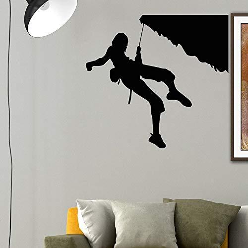 Escalador de roca escalada deportes extremos calcomanías de pared decoración del hogar decoración de la casa sala de estar dormitorio etiqueta de la pared papel tapiz A9 61x57cm