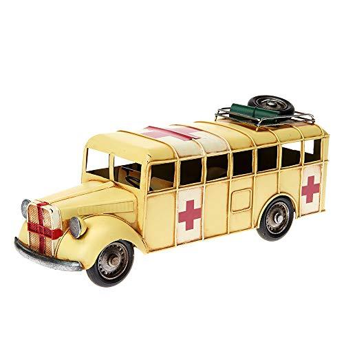 Pamer-Toys Modellauto aus Blech - im Antik-Vintage-Retro-Style - Rettungswagen -