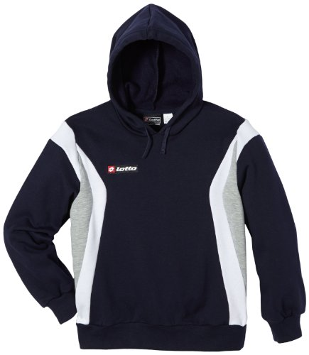 Lotto Stars FL HD JR Sweat-shirt de sport à manches longues pour garçon Bleu Bleu marine/blanc Large