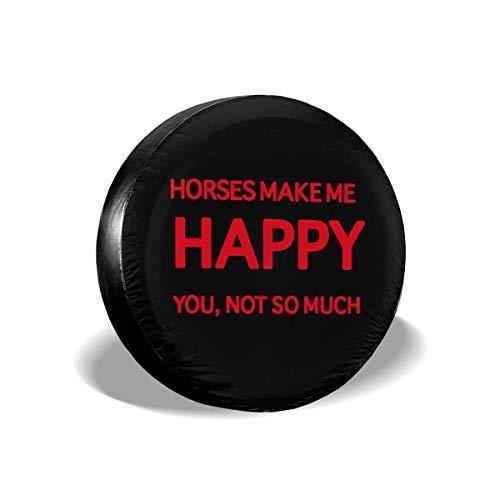 Cubiertas para llantas para fanáticos de los deportes Horses Me Makes Me Happy You Not So Much Cubierta para llantas de repuesto para remolques, casas rodantes, SUV y muchos vehículos de 16 pulgadas