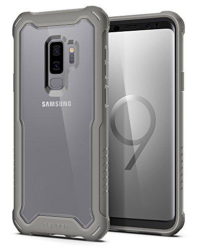 Spigen Custodia Hybrid 360 Galaxy S9+ / Galaxy S9 Plus con protezione completa per lo schermo in vetro temperato per Samsung Galaxy S9 Plus (2018), grigio titanio