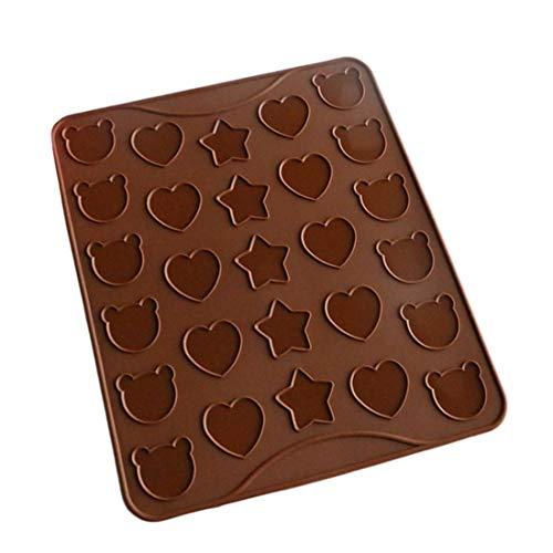 KERVINFENDRIYUN YY4 Macarons Silikon-Kuchenformen Pooh Bears Love Stars Macarons Pads Cookie Pads Backwerkzeuge 2 (Farbe : Braun)