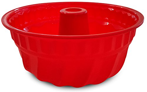 Guardini Juliette, Stampo Gugelhopf 22cm, Silicone alimentare, Colore rosso