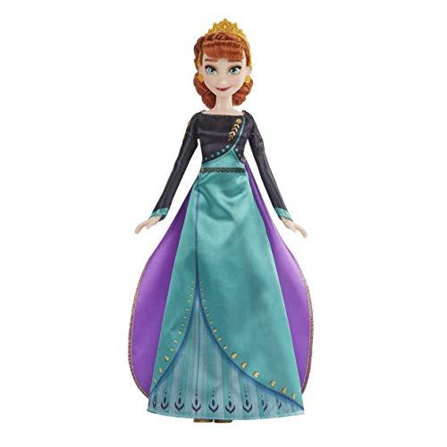 Disney La Reine des neiges 2, Poupée mannequin Anna en tenue de Reine, 27 cm