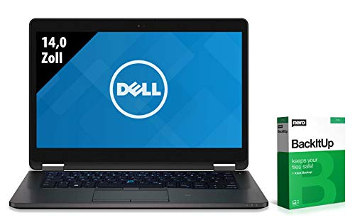 Dell Latitude E7470   Notebook   14,0 Zoll   Intel Core i7-6600U @ 2,6 GHz   16GB RAM   250GB SSD   FHD (1920x1080)   Webcam   Windows 10 Pro (Zertifiziert und Generalüberholt)