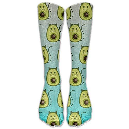 hgdfhfgd NEW Avocado Cat Pattern Unisex Outdoor Calf Sport Socks (Long 50cm trend 2162