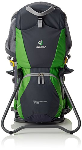 Deuter Kid Comfort Air, Mochila Unisex, Multicolor (Graphite/Spring), 70 x 43 x 32 cm, 14 L