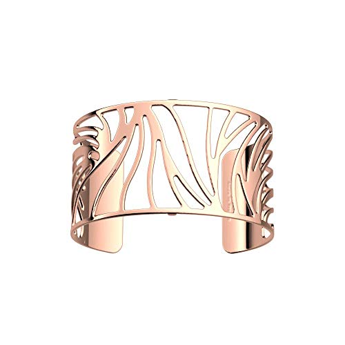 Les Georgettes Bracelet pour femme – Les Essentielles Perroquet + pour poignet large – Couleur : or rose, largeur du bracelet : 40 mm