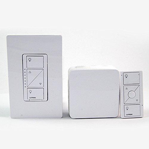 Lutron P-BDGPRO-PKG1W Wireless Dimmer Pro Kit With Smart Bridge 120 Volt White