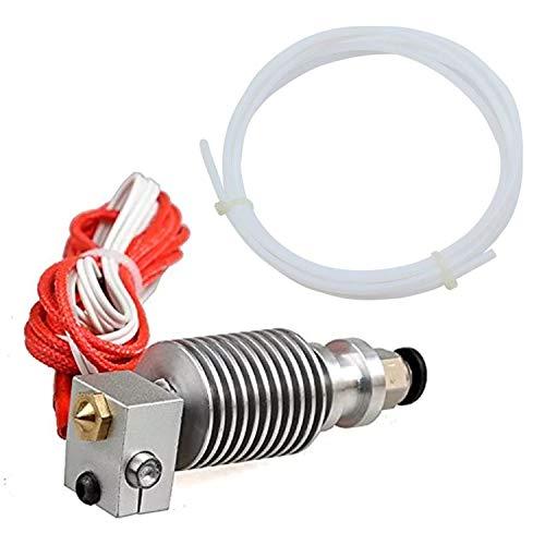 Futuresses J Head V6 Hotend Metal Extruder, 1.75mm 3D Printer PTFE Tube Transparent, V6 Nozzle 0.4mm, 3D Printer Extruder Hotend V6 Accessories