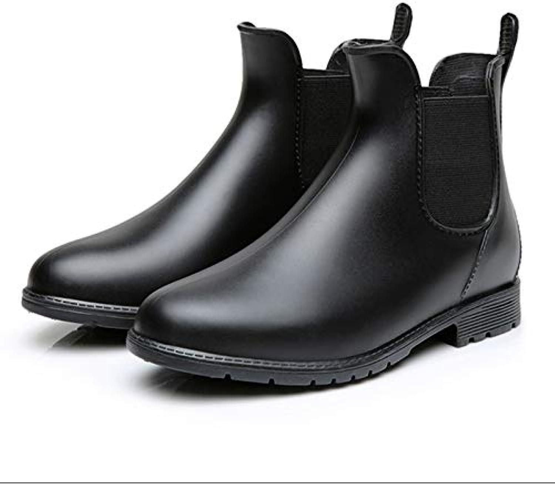 Bvilage Spring Summer Rain Boots Short Antiskid PVC Students' Chelsea Waterproof Adult Waterproof shoes Ladies