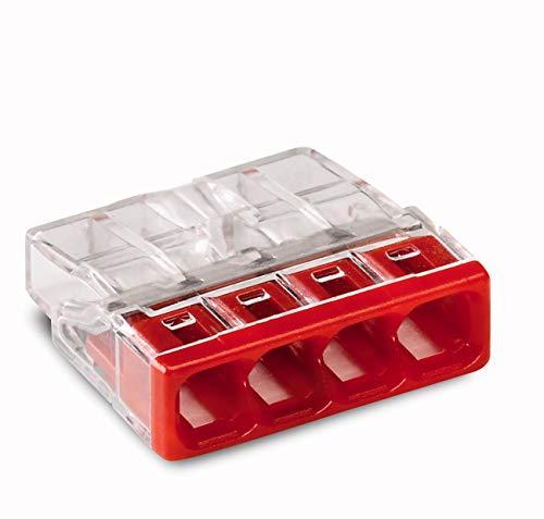 Wago 2273-204 Compact-Dosenklemme 4 x 0.5-2.5 qmm Nr.2273-204  20 Stück, rot