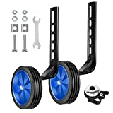 BNKIHDD Bicycle Training Wheels for Kids Stronger Version Replacement Adjustable Bicycles Stabilizer for Children, Suitable for 12/14/ 16/18/ 20/ inch Children's Single Speed Bikes (Blue)