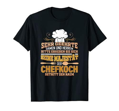 Herren Seine Majestät Der Chefkoch Lustig Küchenchef Koch Kochen T-Shirt