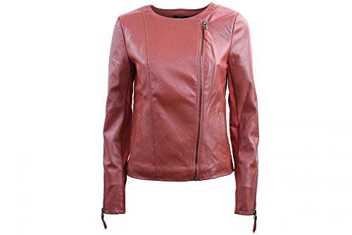 ONLY Frauen Faux-Lederjacke 15140393 RED 38 Rosso