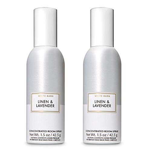 Bath and Body Works 2 Pack Linen and Lavender Room Spray 1.5 Oz.