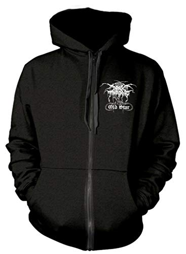 Darkthrone 'Old Star' (Black) Zip Up Hoodie (x-Large)