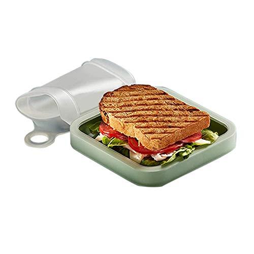 JUNCHUANG Bolsa de sándwich reutilizable, portátil, bolsa de bolsillo de silicona, bolsa de almacenamiento de alimentos para aperitivos y frutas