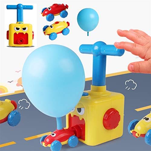 FBGood Luftballon-Auto - Auto Physik Experiment Ballon Rückstoß DIY Wissenschaft Lernspielzeug Kit, Spielzeug Geschenk für Kinder mit 1x Aufblasbarer Schlauch 2X Luftballonauto und 12x Ballon