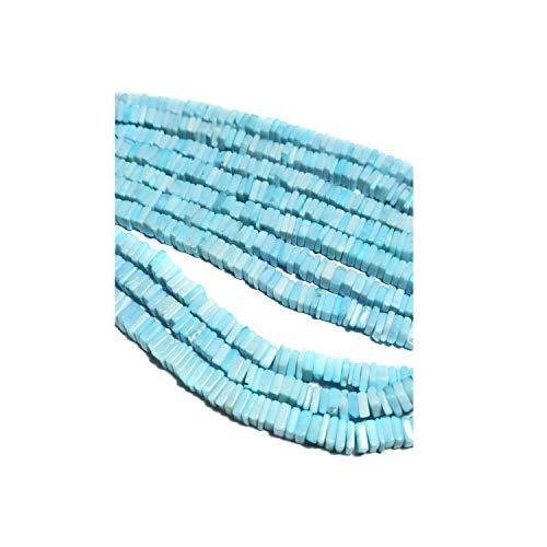 eGemCart 5-6mm Larimar Natural Heishi Cuentas cuadradas para Hacer Joyas, Cuentas de Heishi para Pulsera de Piedras Preciosas, Cuentas de Piedras Preciosas Sueltas semipreciosas Calidad AAA