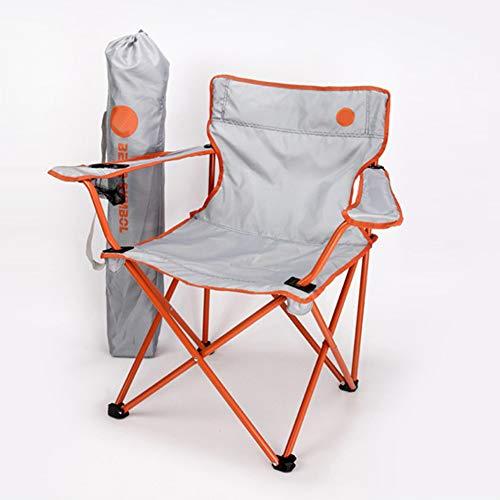 AoYan Opvouwbare campingstoel visstoel rugleuning stoel met bekerhouder zwaar stalen frame beugel opvouwbare verdikkende fauteuil outdoor heavy duty reisstoel
