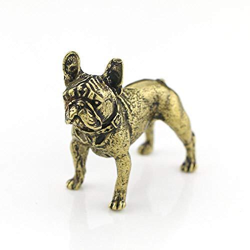 HTRN Animales para jardín Figurines para jardín Figuras Adorno para Perros Modelo en Miniatura de latón Pequeños Accesorios Inicio Decoración Animal Vintage