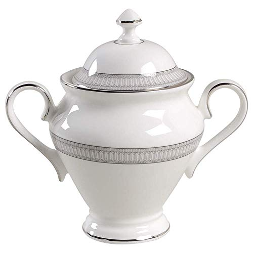 Waterford China Carina Platinum Sugar Bowl & Lid