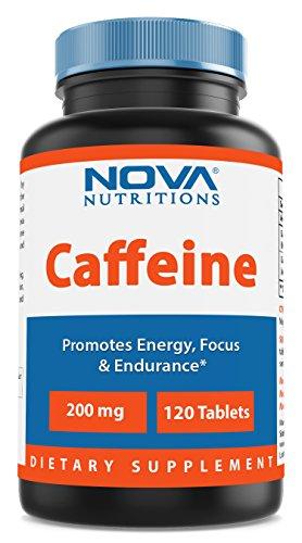 Nova Nutritions Caffeine 200 mg 120 Tablets
