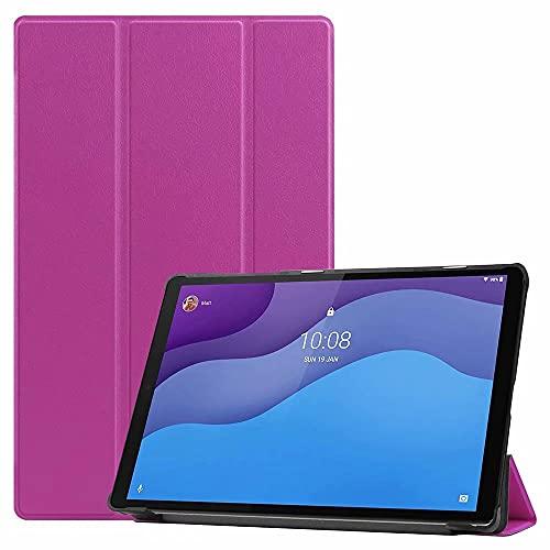 TenDll Funda para Samsung Galaxy Tab S7 FE, piel sintética de alta calidad, ligera, con función atril, para Samsung Galaxy Tab S7 FE, color morado