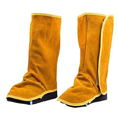 Zapatos de trabajo, zapatos ignífugos, resistentes al cuero de vaca. Retardos de llama de llama de llama. Zapatos de la cubierta de la cubierta de los pies cubierta de la soldadura de la pierna.