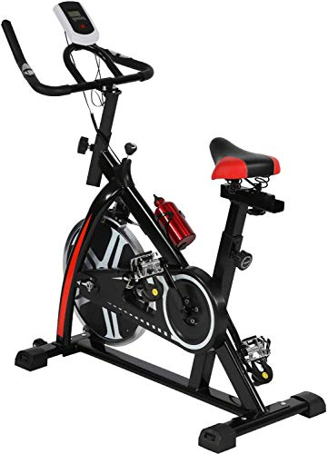 Best Cycling Bike Exercise Bike Indoor Cycling Spin Bike Bicycle Cardio Fitness Cycle Trainer Heart Pulse with LED Display Exercise Bikes Stationary Indoor, Easy to Use, Simple Assembly - 330 Lbs