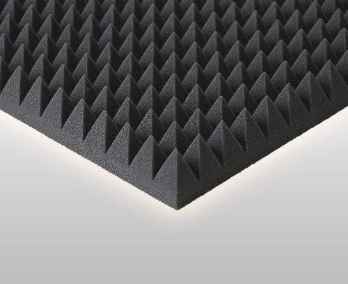 85 Stk Pyramiden schaumstoff Akustik ,Akustik Dämmung ca. 50 x 50 x 5 cm, Schwarz Anthrazit, Schallschutzpaneele Akustische Schallisolierung Dens. 30 Platten Akustische Lautsprecher