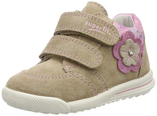 Superfit Mädchen Avrile Mini Sneaker, Beige (Beige/Rosa 40), 26 EU