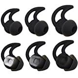 Bose Replacement Noise Isolation Silicone Earbuds/Earplug Tips 3 Pairs Size S M L for Bose Earphones Fit Bose QC20 QuietControl 20 QC30 SIE2 IE3 Soundsport Free Wireless Earphones (Black)