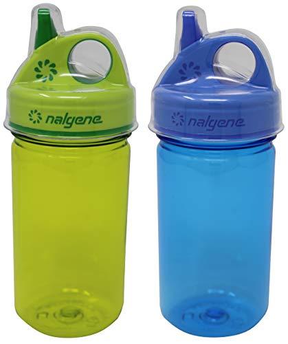 Nalgene Everyday Grip-N-Gulp Water Bottle for Kids Blue / Green Set